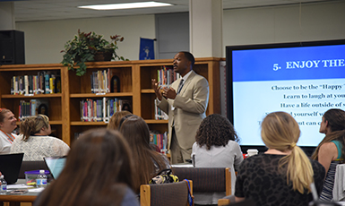 Dr. Gary Inspires District's New Teachers
