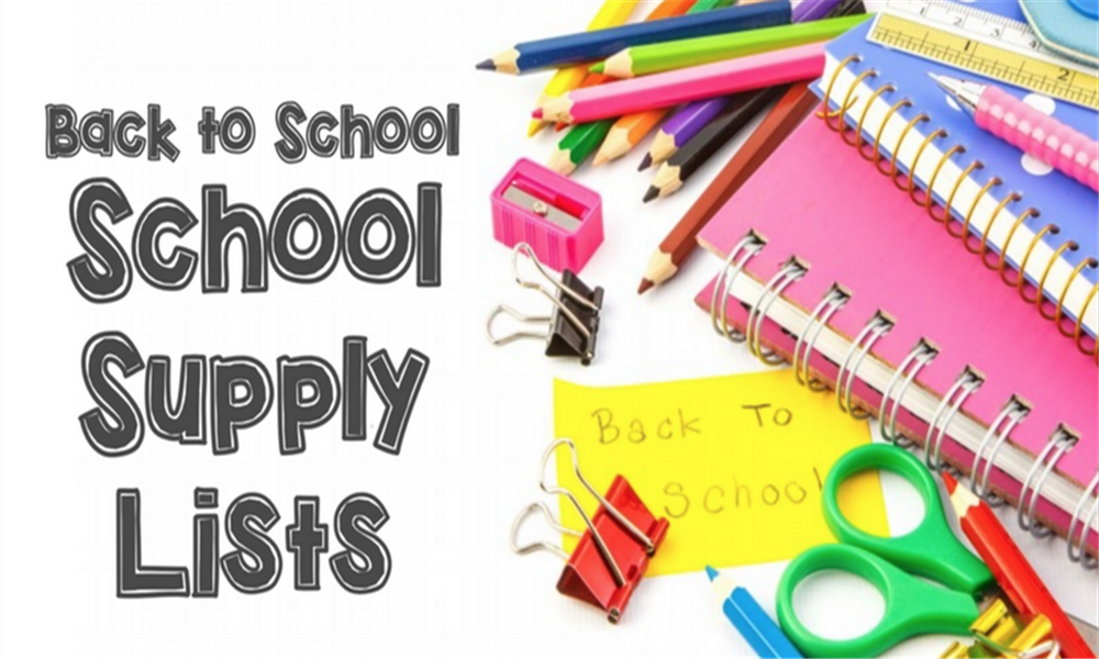 School supply list photo