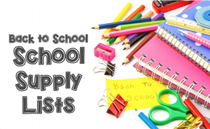 2018-19 School Supply List Now Available!