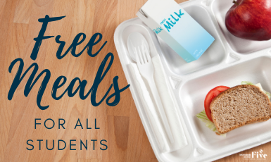 DISTRICT FIVE STUDENTS TO RECEIVE FREE MEALS THROUGH END OF YEAR