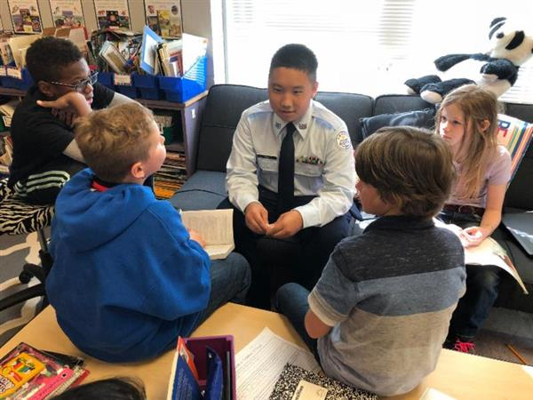 Reading Program Pairs Cadets With River Ridge Students