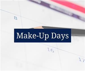 Make-Up Days Announced