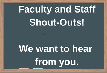 Faculty and staff shout-out link