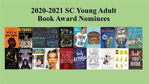20 nominees for the 2020-2021 SC Young Adult Book Award